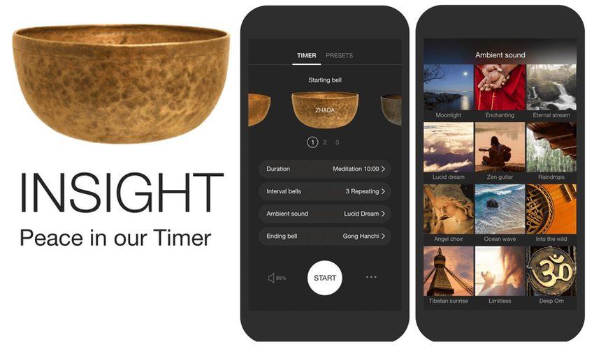 Приложение Insight Timer для медитации